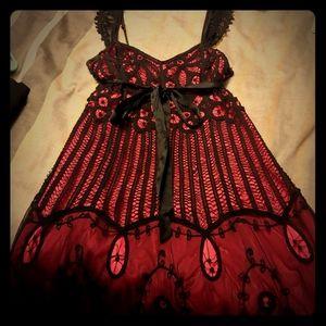 Beautiful Betsey Johnson lace overlay dress